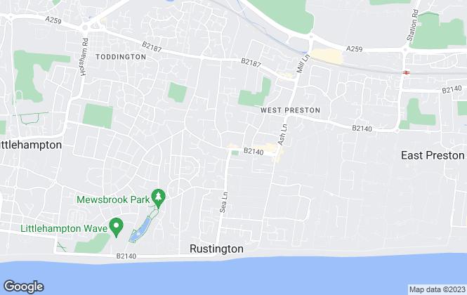 Map for Cubitt & West, Rustington