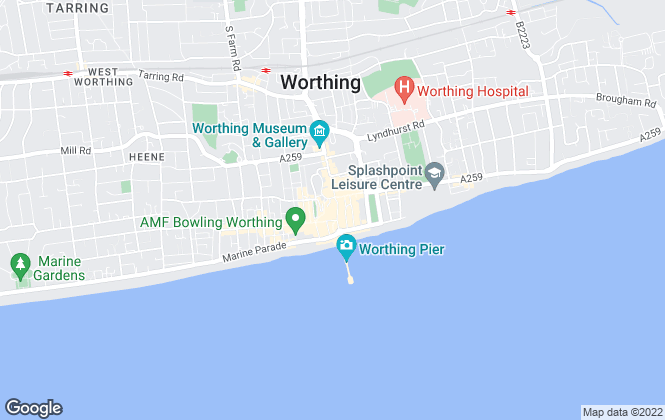 Map for King & Chasemore, Worthing
