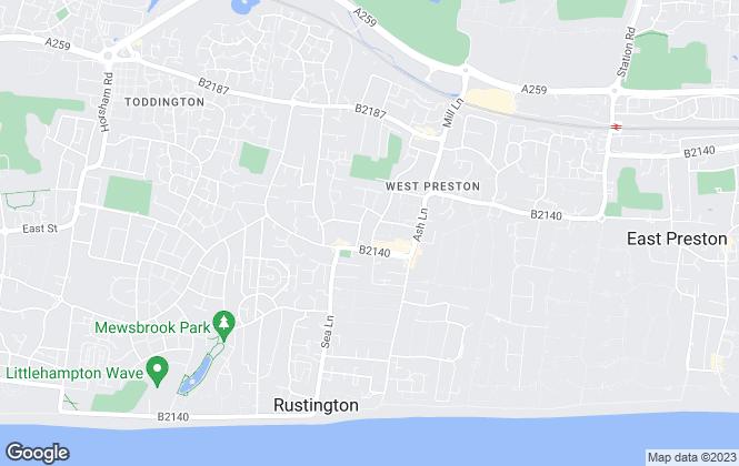 Map for Graham Butt Estate Agents, Rustington