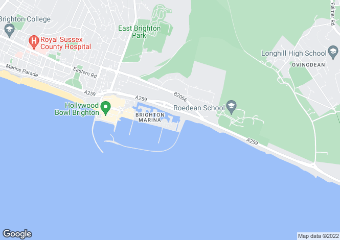 Map for St. Vincent's Court, Brighton Marina,  Brighton, East Sussex