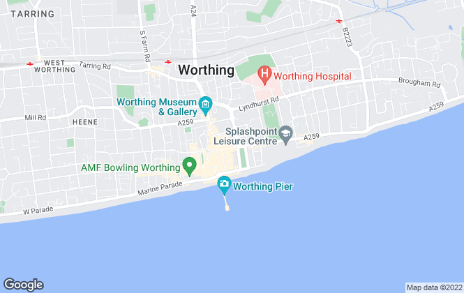 Map for Winkworth, Worthing