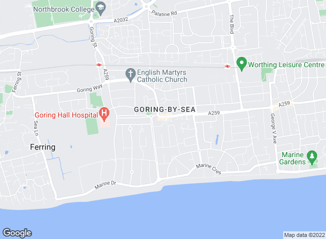 Map for Stafford Johnson, Goring
