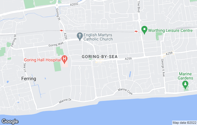 Map for King & Chasemore, Goring-By-Sea