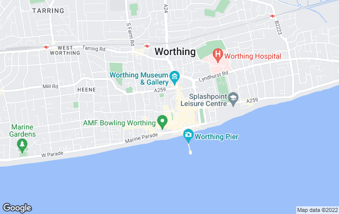 Map for Homewise, Worthing
