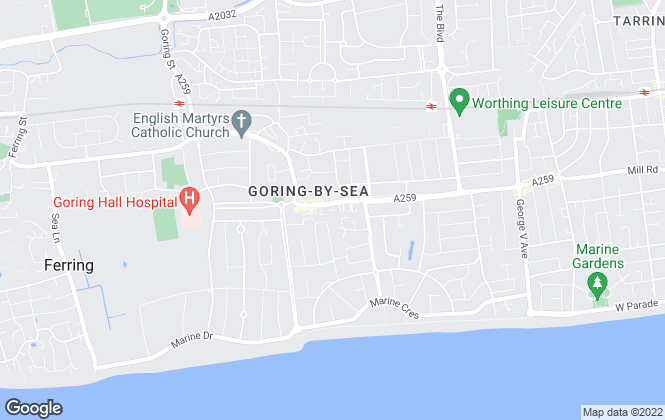 Map for Bartholomew Estate Agents, Goring By Sea