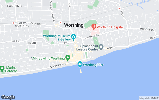 Map for Robert Luff & Co, Worthing