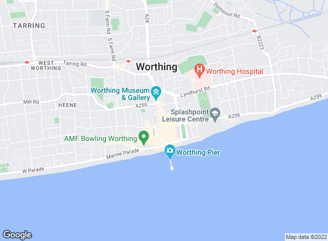 Map for Michael Jones & Company, Worthing