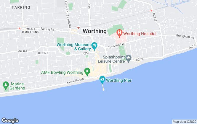 Map for Fox & Sons, Worthing