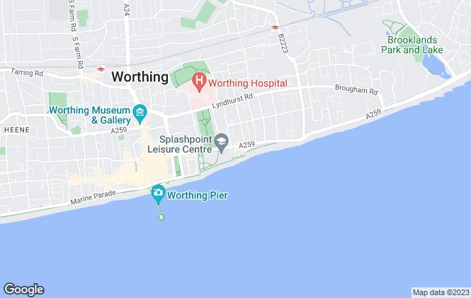 Map for Spratt & Son, Worthing