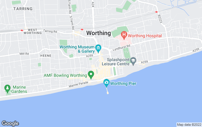 Map for W Welch Estate Agents, Worthing