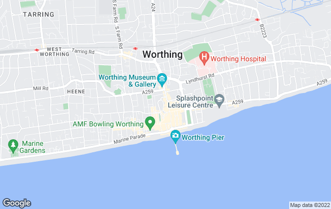 Map for Martin & Co, Worthing