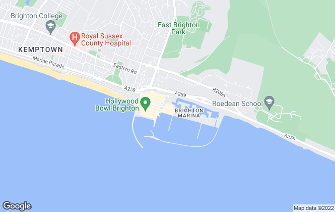 Map for H2o Homes, Brighton