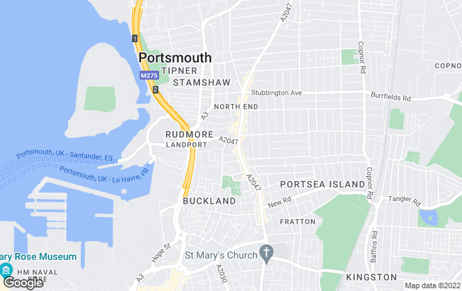 Map for Flude Property Consultants, Portsmouth