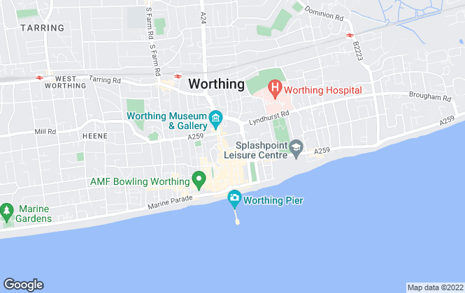 Map for Symonds Reading, Worthing