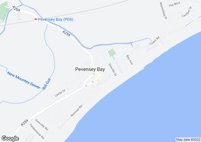 Map for Coast Road, Pevensey Bay, Pevensey, East Sussex