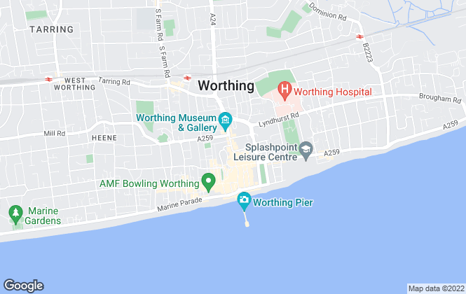 Map for Jacobs Steel, Worthing