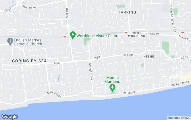 Map for Fox & Sons, West Worthing