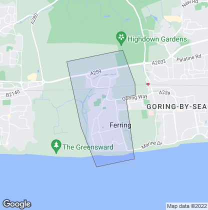 Map of property in Ferring