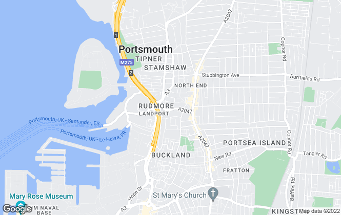 Map for Pink Street, Portsmouth