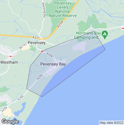 Map of property in Pevensey Bay