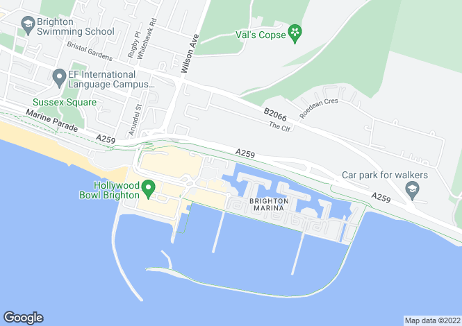 Map for Brighton Marina Village,
