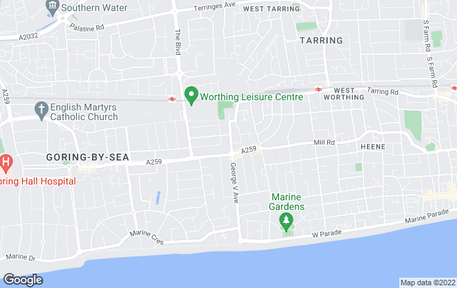 Map for James & James Estate Agents, Worthing