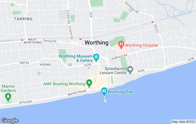 Map for Northwood, Worthing and Littlehampton