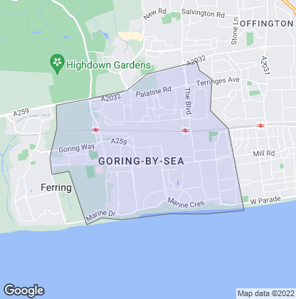 Map of property in Goring