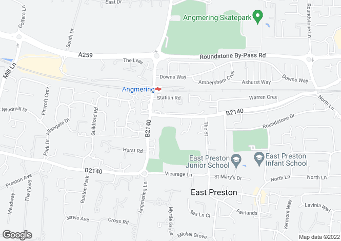 Map for Worthing Road,