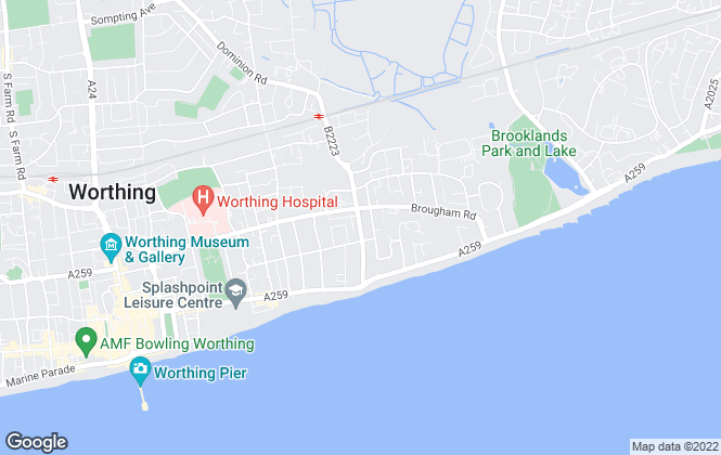 Map for Russell Ponsford, Worthing