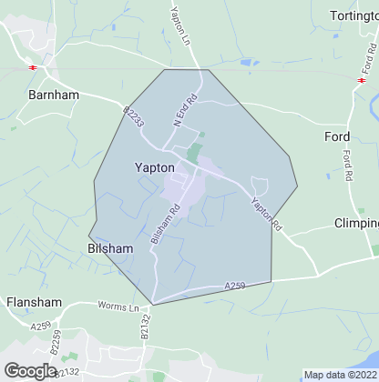 Map of property in Yapton
