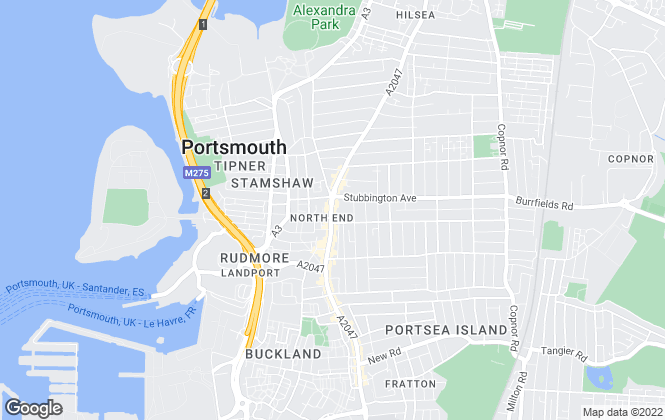 Map for Jeffries Estate Agents, Portsmouth