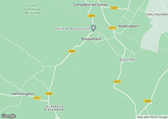 Map for bouquehault, Pas-de-Calais, France