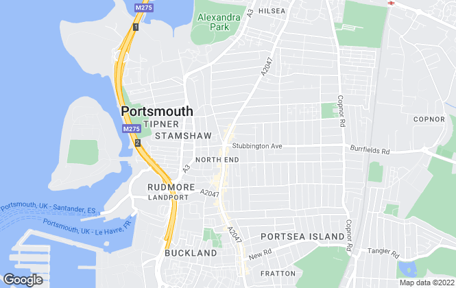 Map for Cubitt & West, Portsmouth