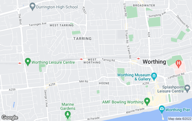 Map for Whittingtons, Worthing
