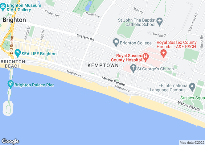 Map for Marine Parade, Brighton