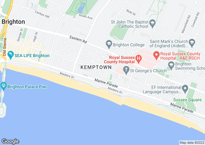 Map for Bloomsbury Place, BRIGHTON, East Sussex