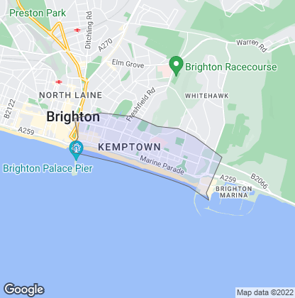Map of property in Kemp Town