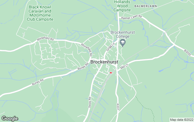Map for Hayward Fox, Brockenhurst