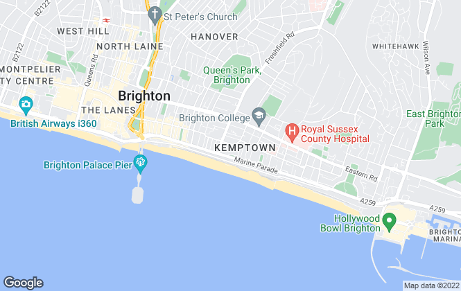 Map for Fox & Sons, Brighton Kemp Town