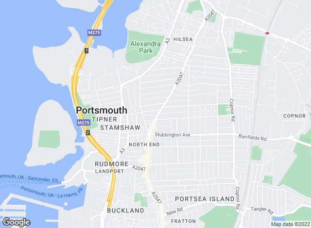 Map for Todd & Hartridge, Portsmouth