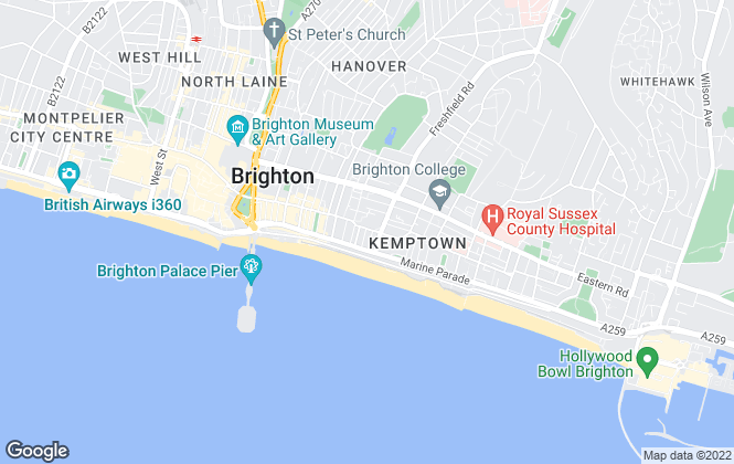 Map for Paul Bott & Co, Brighton
