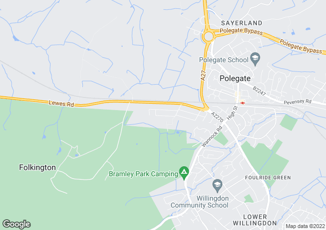 Map for Sunstar Lane, POLEGATE, East Sussex