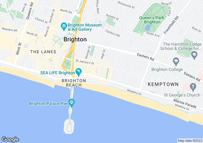 Map for Margaret Street, Brighton