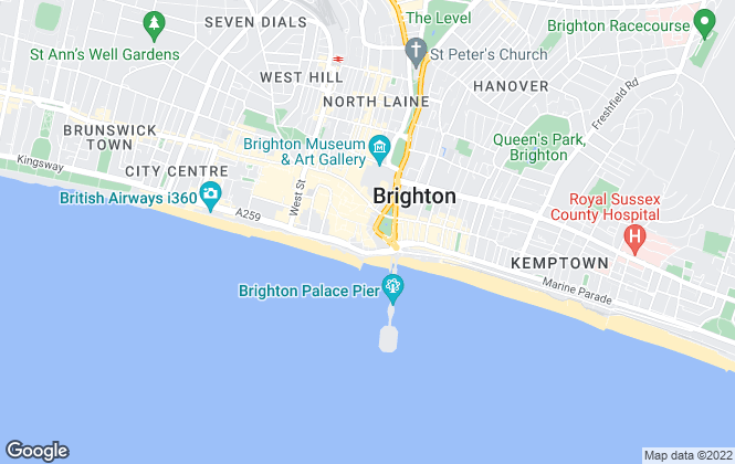 Map for Cluttons LLP, Brighton