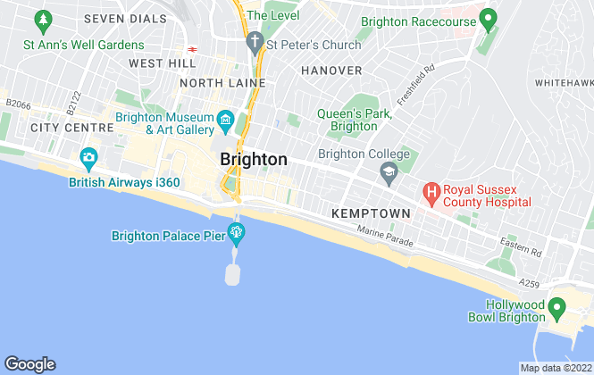 Map for The Property Shop, Brighton