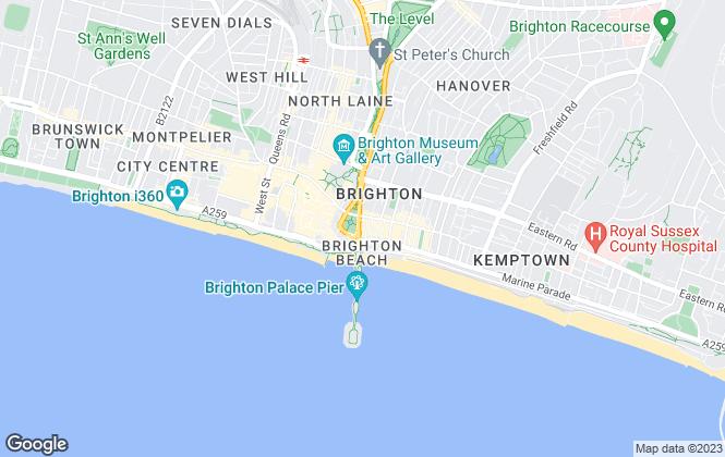 Map for Mudhut Property, Brighton