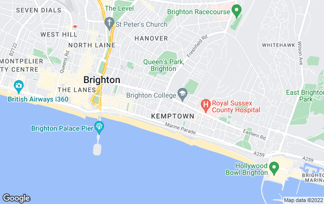 Map for Godfrey Living, Brighton
