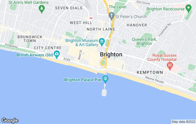 Map for Graves Son & Pilcher, Brighton