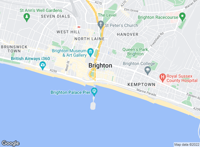 Map for Justin Lloyd, Kemp Town - Sales & Lettings